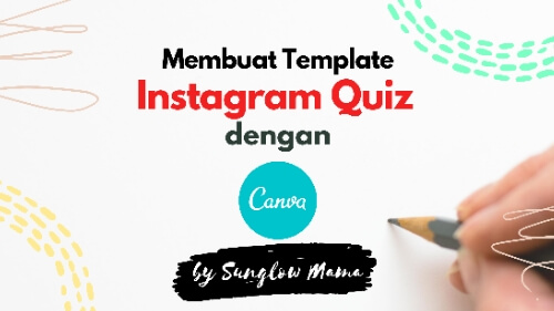 Membuat template instagram quiz dengan canva