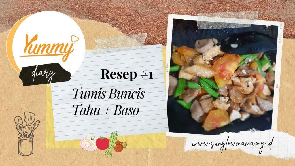 Mencoba resep masakan Yummy app