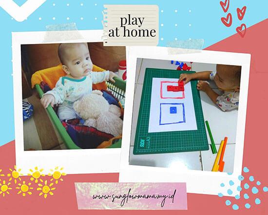 keranjang mainan bayi dan tempat sortir balok warna