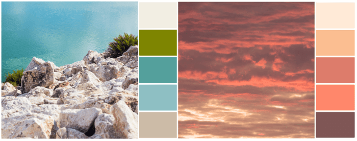 contoh palet warna inspirasi alam