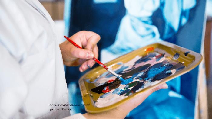 palet warna lukisan