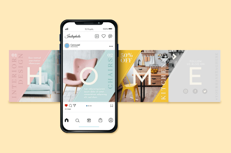 Instagram template Carousell canva free