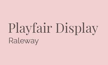 playfair display dan raleway