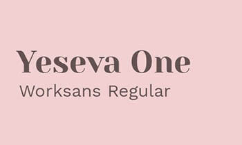 yeseva one worksans regular