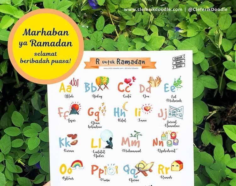 5 Printables Ramadan Dari Cleferik Doodle Yang Bisa Ibu Coba